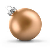 球圣诞节装饰金子 免版税库存照片