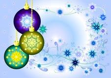 球圣诞节设计 免版税库存照片