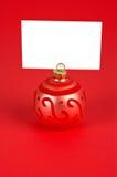 球圣诞节通知单 免版税库存图片