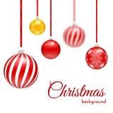 球圣诞节金黄愉快的新的范围向量年 免版税库存照片