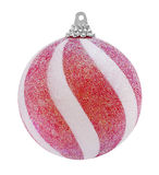 球圣诞节闪烁红色 库存图片