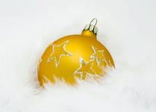 球圣诞节黄色 库存照片