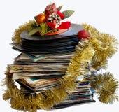 球圣诞节仍然光盘生活乙烯基 库存图片