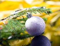 球圣诞节xmas 免版税库存图片