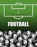 球场橄榄球 球批次 足球背景 体育运动 皇族释放例证