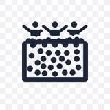 球坑透明象 球坑从活动的标志设计 库存例证