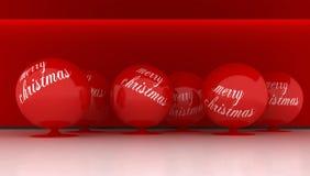 球大红色xmas 库存例证