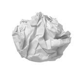 球失败办公室纸张浪费 库存照片