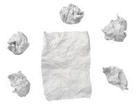 球失败办公室纸张浪费 免版税库存照片