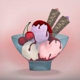球奶油设计要素冰例证 免版税库存照片