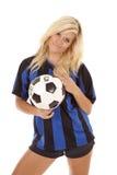 球姿势足球妇女 库存图片