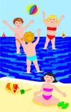 球子项编组演奏海运 向量例证