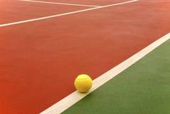 球室内网球 库存图片
