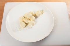 球山羊乳干酪01 库存照片