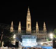 球市政厅生活维也纳 免版税库存照片
