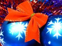 球弓圣诞节红色 免版税库存图片