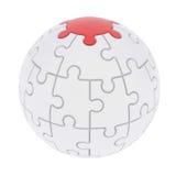 球形包括的难题 免版税库存照片