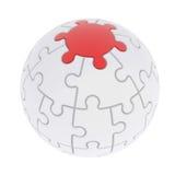 球形包括的难题 库存照片
