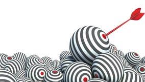 以球形和箭头的形式目标 免版税库存图片
