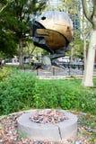 球形和9/11永恒火焰 免版税库存照片