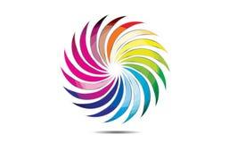 球形圈子商标、全球性元素商业公司和抽象公司环绕了象标志传染媒介 免版税库存图片