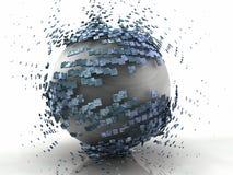 球形爆炸3D金属 皇族释放例证