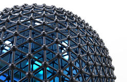 球形网络概念 免版税图库摄影
