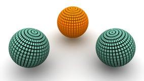 球形转动 3d 向量例证