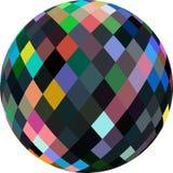 球形3d抽象图表 在被隔绝的白色背景的多色玻璃珠 向量例证