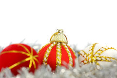 球快活圣诞节的装饰 免版税库存照片
