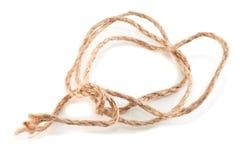 球投入的概略的棉花绳索 库存照片