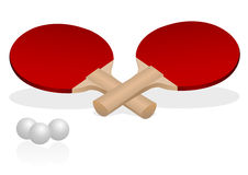 球拍乒乓球 免版税库存图片