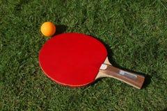 球拍乒乓球 库存图片