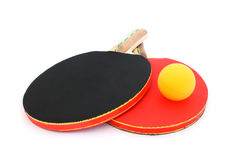 球拍乒乓球 免版税库存照片