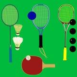 球拍体育运动向量 免版税库存照片