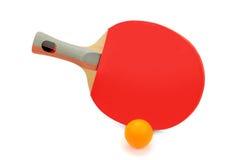 球拍和球 免版税库存图片