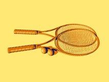 球拍网球 免版税库存照片