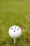 球指南针高尔夫球丝毫 库存照片
