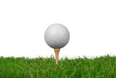 球接近的高尔夫球 免版税库存图片