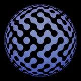 球数字式迷宫现代表面 库存照片