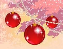 球构成冷杉红色结构树 免版税库存图片