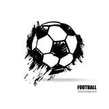 球查出的发光的足球向量 库存照片