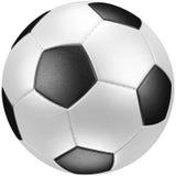 球查出的足球白色 免版税库存照片