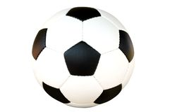 球查出的足球 图库摄影