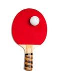 球桨乒乓切换技术红色白色 免版税库存照片