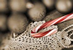 球棒棒糖圣诞节 库存图片