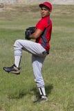 球棒球对风的投手投掷 库存照片