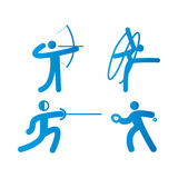 球橄榄球图标球员剪影体育运动二 库存照片