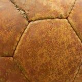 球橄榄球皮革老纹理 免版税库存图片