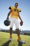 球橄榄球盔藏品球员 免版税库存照片